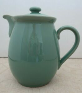 DENBY England stoneware MANOR GREEN large 2 PT  COFFEE - HOT WATER POT