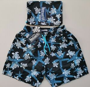 Mens Vilebrequin swim shorts black color size S