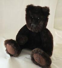 "St. John Teddy Bear Plush   13"" with Legs Dark Brown Neiman Marcus EUC   RARE."