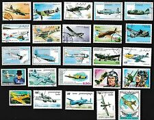 25 WWII AVIATION on Stamps