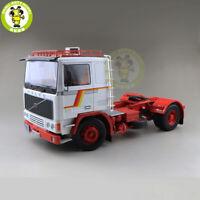 1/18 ROAD KINGS KK Volvo F1220 Tractor Truck 1977 Diecast Car Model White Red