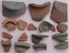 17 SHARDS OF ROMAN  POTTERY METAL DETECTOR FINDS EAST ANGLIA SUFFOLK