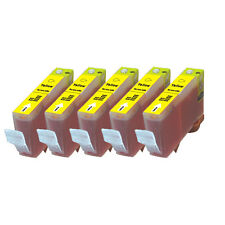5 YELLOW Premium Ink + Chip for Canon Series CLI-221 MP640 MX860 MX870 MP980 990