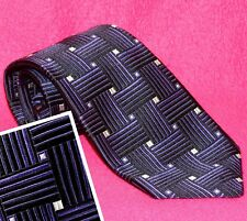 AMAZING ROBERT TALBOTT ESTATE JACQUARD SILK NECK TIE PURPLE BLACK SILVER BASKET