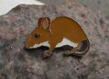 Wood Harvest Field Mouse Woodmouse Common Wild Mice Rodent Pin Badge