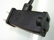 Well Shin Notebook Power Cord WS-027A WS-021 10A 125V 12' Cable Dual Plug Socket