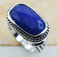 Lapis lazuli 925 Sterling Silver Gemstone Ring Size 8 F1202