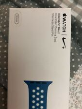 Genuine sealed 38mm Apple Watch Nike sport band Blue Orbit / Gamma Blue