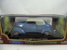 1:18 Road Signature #92239 1937 Ford Convertible Bluemetallic - Rareza§