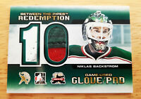 ITG 2012 Niklas Backstrom Between the Pipes Redemption Game Used Pads Card