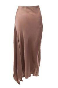 NWT$1395 Brunello Cucinelli Silky Satin Asymmetrical Hem Skirt Size 42/ 6US A191