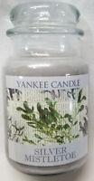 Yankee Candle SILVER MISTLETOE Large Jar 22 Oz Gray Housewarmer New Wax Fresh