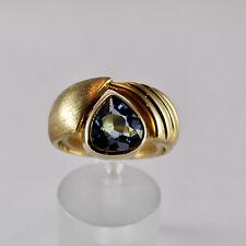 Aquamarin 1,97ct Ring Gelbgold 585 Beryll Größe 59 Handarbeit Idar Oberstein