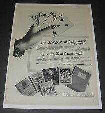 Print Ad 1944 United States Playing Card Bessie Glasser's cribbage hand Odds