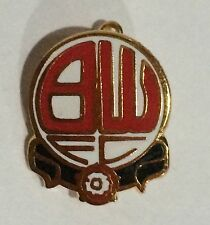 VINTAGE BWFC BOLTON WANDERERS FC ENAMEL PIN BADGE EARLY 1990's