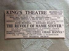a2i ephemera 1950s advert king's theatre ramsgate the revolt of mamie stover