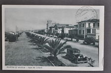 Cartolina Mare Toscana Marina di Massa Viale Littorio 1931