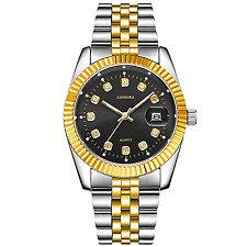 Luxury Gold Stainless Steel Quartz Water Resistance Analogue Mens Womens Watches