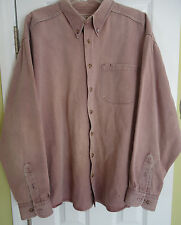 WOOLRICH Button Front RUGGED OUTDOORWEAR Faded Red Winter Outdoor Shirt MENS XL