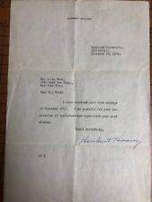 HERBERT HOOVER RARE LETTER SIGNED   AUTHENTIC