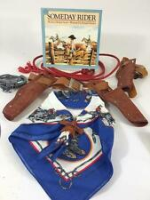Cowboy Western Kids Vtg Lot 6 Costume Halloween Jackson Hole Scarf Book Holster
