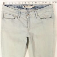 Ladies Womens Levis DEMI CURVE SKINNY  Light Blue Jeans W29 L32