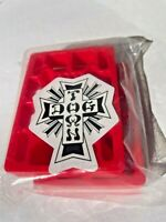 "DOGTOWN Skateboard Riser Pads 1/2"" RED Set Of 2"