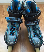 SFR Vortex Kids Adjustable Blue Inline Skates size UK 12- 2 Euro 30.5- 34
