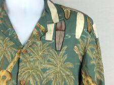 Diamond Head SportsWear Mens Hawaiian Shirt Green With Grapics Medium