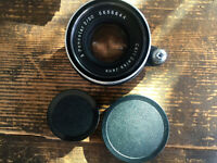 Exa Exakta Carl Zeiss Jena Pancolar 2/50 Q1 Objektiv lens 6 Blades + caps - CC