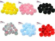 Craft Pom Poms Fuzzy Balls 8 Colours  25mm & 40mm 3 Packet Sizes British Made