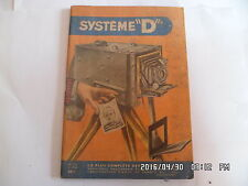 SYSTEME D N°123 03/1956 APPAREIL POUR PHOTOGRAPHIE AMBULANT CHAISE D'ENFANT  J30
