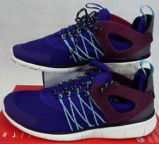 New Womens 10 NIKE Free Viritous Blue Running Shoes $110 725060-060