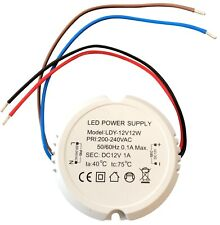 LED Transformator Trafo Treiber 12Watt Stabilisiert - Dosentrafo Rund. Sec=12VDC