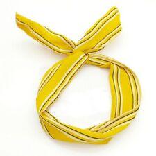 Fascia per capelli donna con ferretto modellabile bunny  gialla righe bianco