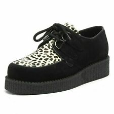 Women`s Underground Wulfrun Suede Creepers UK 3 Platform Brothel Shoes Leopard