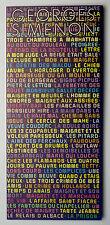 POCHETTE D'EMISSION COMMUNE FRANCE-BELGIQUE-SUISSE GEORGES SIMENON - 1994