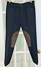 Polo Ralph Lauren Mens Italian Wool Twill Equestrian Riding Pants Brown Waist 32