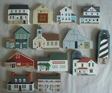Cat's Meow Village 1990s Lot Of 13 - Civil War Amish Lighthouse & Series Viii
