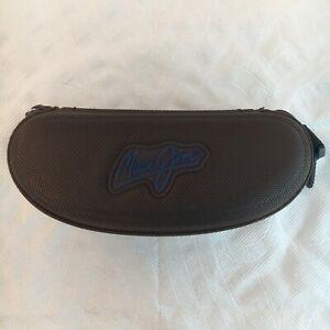 MAUI JIM Eyeglasses Sunglasses Shades Brown Zipper Zip Closure Spectacles Clip
