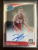 2018/19 Troy Brown Jr Panini Optic Rated Rookie🔥 Auto🔥 #192 Wizards