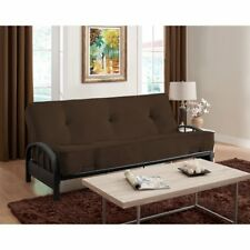 brown full size 8   futon mattress  u0026 futon frame set home living room furniture metal futon frame  u0026 mattress sets   ebay  rh   ebay