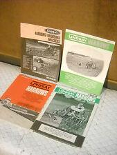 4 vintage lindsay machinery catalogs harrows mulchers 1960's iowa dealers