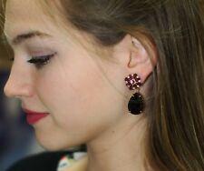 Authentic Kate Spade Purple Earrings Trellis Blooms Linear Drop chandelier NWT