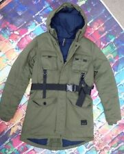 Z46 Rocawear Brooklyns Own Quilted Heavy Puffa Coat Green Military Style
