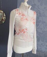 BENCH zip up top, white orange  stitching funnel neck pockets size XS