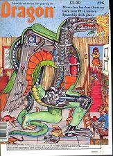 Dragon Magazine #96 April 1985 Fair W/ cover damage D&D AD&D TSR 2nd Edition