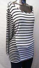 Calvin Klein,Neuwertig,Damen,Shirt,Schwarz/Weiß,Gestreift,L(USA),Gr.42