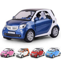 Smart ForTwo 1:24 Scale Car Model Diecast Gift Toy Vehicle Pull Back Kids