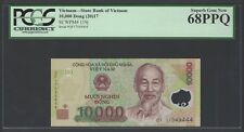 Viet Nam 10000 Dong 2017 P119j Uncirculated Graded 68
